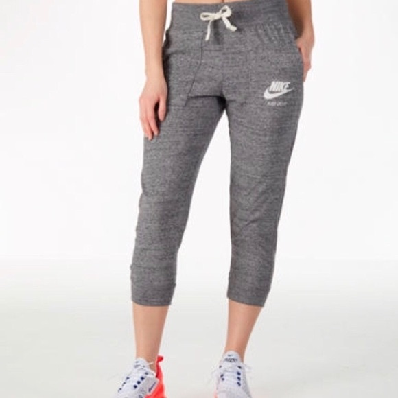 Nike Gray Cropped Joggers
